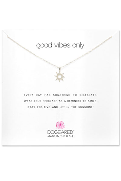 Dogeared Good Vibes Only Silver Necklace