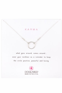 Dogeared Jewelry Karma Sterling Silver Necklace