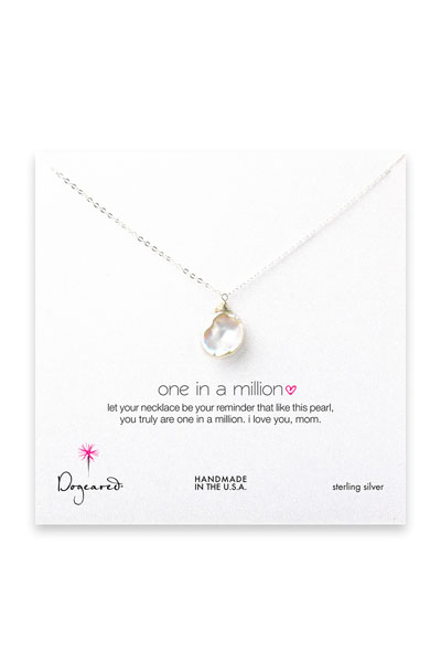 Dogeared Jewelry Mom One In A Million Sterling Silver Necklace