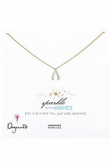 Dogeared Jewelry Sparkle With Wishes Wishbone Necklace