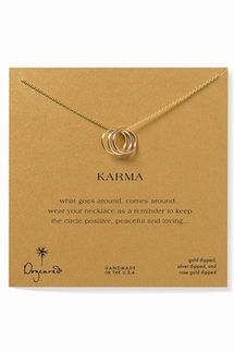 Dogeared Jewelry Triple Karma Ring Mixed Metal Necklace