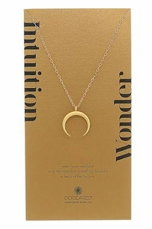 Dogeared Large Crescent Moon Gold Necklace