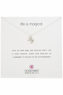 Dogeared Life is Magical Silver Necklace