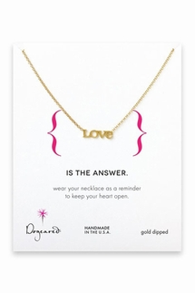 Dogeared Love Gold Necklace