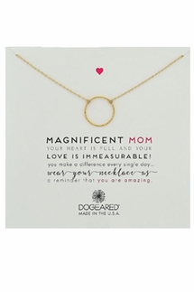 Dogeared Magnificent Mom Sparkle Karma Gold Necklace
