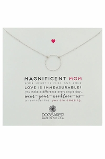 Dogeared Magnificent Mom Sparkle Karma Silver Necklace