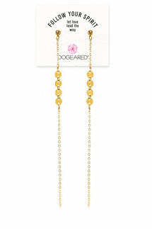 Dogeared Multi-Disc Shoulder Duster Gold Earrings