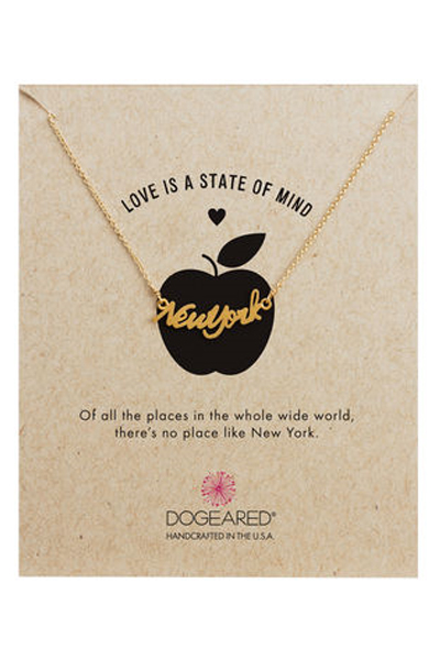 Dogeared New York Script Gold Necklace