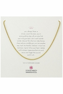 Dogeared Sparkle Gold Rope Chain Choker