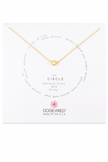 Dogeared The Circle Gold Necklace