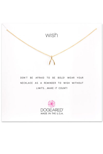 Dogeared Wish Gold Necklace