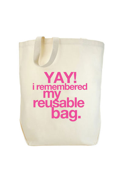 Dogeared Yay! I Remember My Reusable Bag Tote