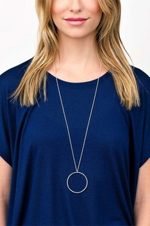 Gorjana Autumn Circle Gold Pendant Necklace