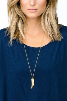 Gorjana Cayne Tusk Gold Pendant Necklace