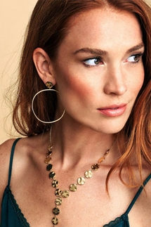 Gorjana Chloe Gold Drop Hoops