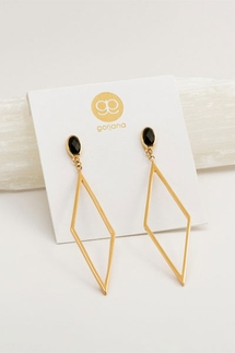 Gorjana Dez Black Obsidian Drop Earrings