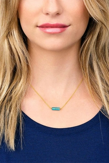 Gorjana Dez Turquoise Bar Necklace