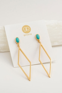Gorjana Dez Turquoise Drop Earrings