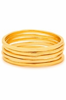 Gorjana G Ring Set of Five Gold Rings