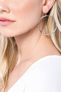 Gorjana G Ring Silver Hoop Earrings