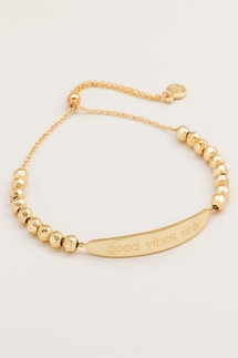 Gorjana Good Vibes Only Gold Bracelet