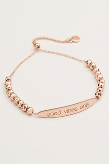 Gorjana Good Vibes Only Rose Gold Bracelet