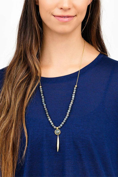 Gorjana Gypset Labradorite Adjustable Necklace