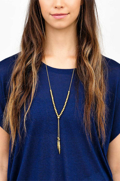 Gorjana Laguna Large Adjustable Gold Necklace
