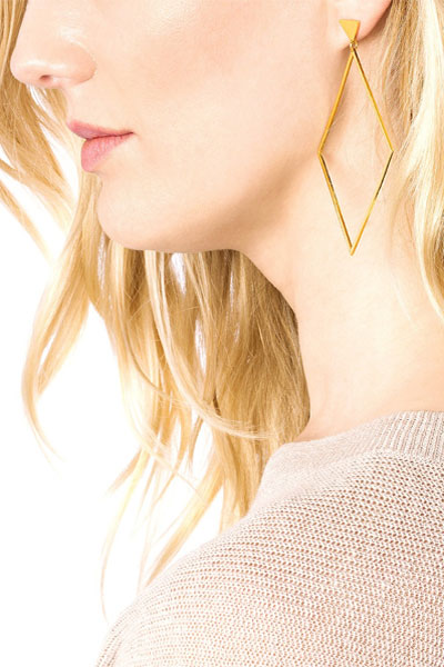 Gorjana Liv Drop Gold Earrings