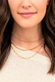 Gorjana Margo Bar Chain Layered Choker