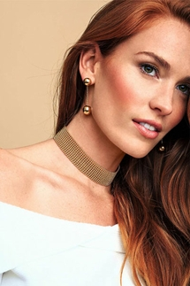 Gorjana Newport Gold Double Drop Earrings
