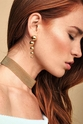 Gorjana Newport Gold Tiered Drop Earrings
