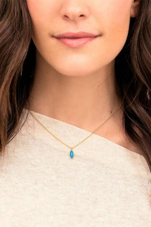 Gorjana Palisades Adjustable Turquoise Charm Necklace