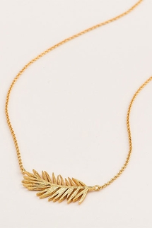 Gorjana Palm Adjustable Gold Necklace