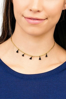 Gorjana Playa Beaded Black Tassel Choker