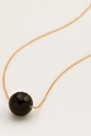Gorjana Power Gemstone Black Oynx Bead Adjustable Necklace for Protection