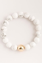 Gorjana Power Gemstone Howlite Statement Bracelet