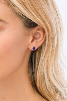 Gorjana Power Gemstone Lapis Studs