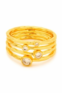 Gorjana Shimmer Stacking Gold Ring Set