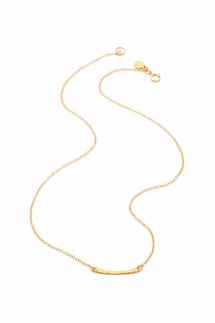 Gorjana Taner Bar Mini Gold Necklace