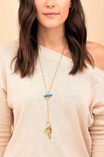 Gorjana Wanderlust Toggle Versatile Turquoise Necklace
