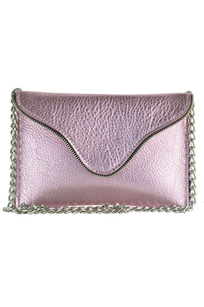 JJ Winters Brooke Light Pink Metallic Crossbody