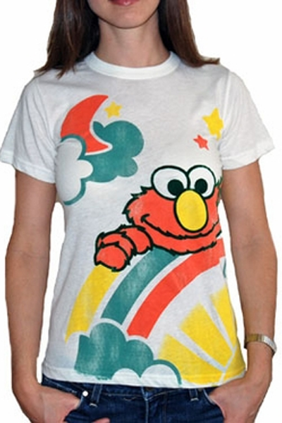 Junk Food Rainbow Elmo tee