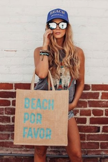 Mother Trucker Beach Por Favor Tote Bag