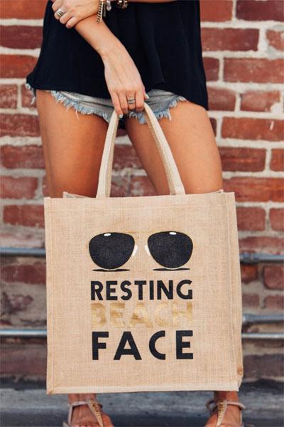 Mother Trucker Resting Beach Face Tote Bag