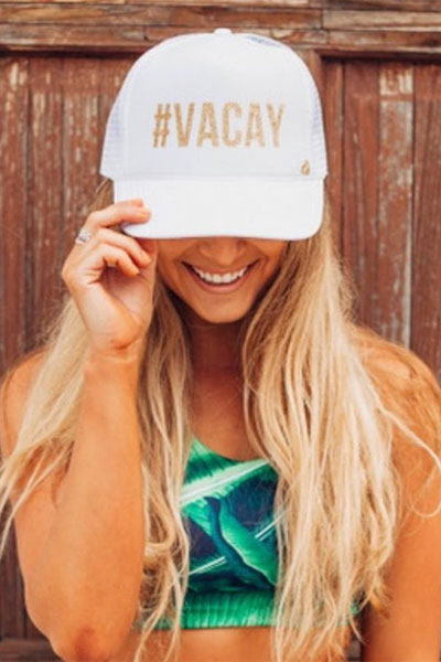 Mother Trucker #VACAY White Hat