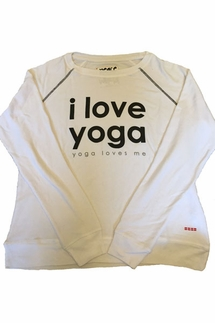 Peace Love World I Love Yoga, Yoga Loves Me Oversized Comfy Top