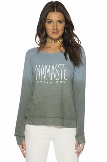 Peace Love World Namaste Every Day Oversized Comfy Top