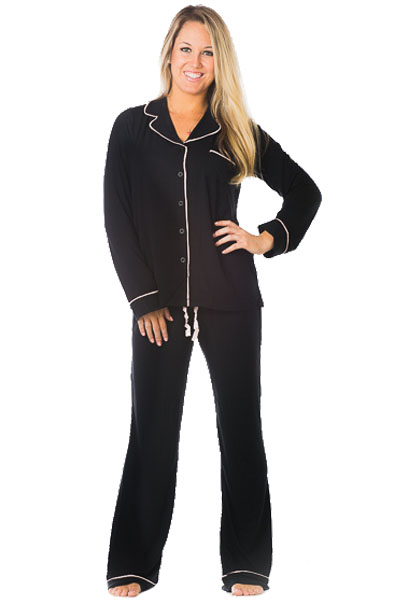 PJ Luxe by PJ Salvage Black Pajama Set
