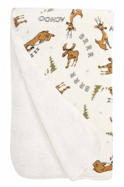 PJ Salvage Achoo Moose Velour Blanket